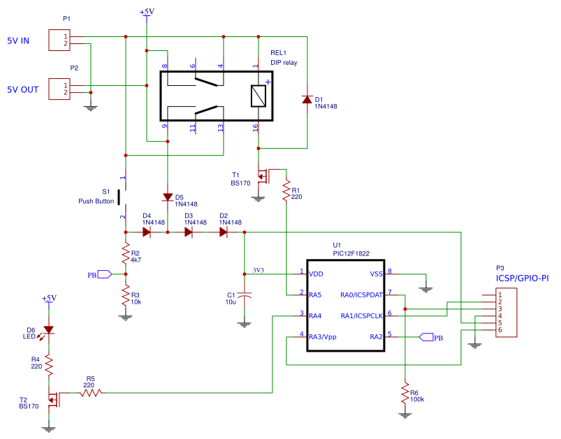 ATX style power-switch for Raspberry Pi   Bergrans Electronics